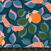 Stay Gold New Leaf Peacock Botanical Ruby Star Society Melody Miller Cotton Fabric RS0019 14