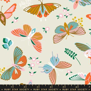 Stay Gold Flutter Shell Butterfly Ruby Star Society Melody Miller Cotton Fabric RS0020 11
