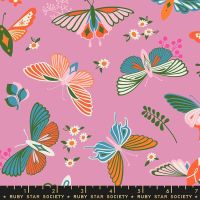 Stay Gold Flutter Kiss Butterfly Ruby Star Society Melody Miller Cotton Fabric RS0020 13