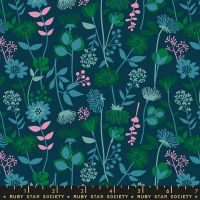 Stay Gold Meadow Peacock Floral Daisy Flower Ruby Star Society Melody Miller Cotton Fabric RS0021 15