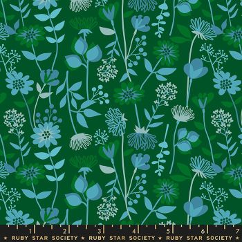 Stay Gold Meadow Jade Floral Daisy Flower Ruby Star Society Melody Miller Cotton Fabric RS0021 16