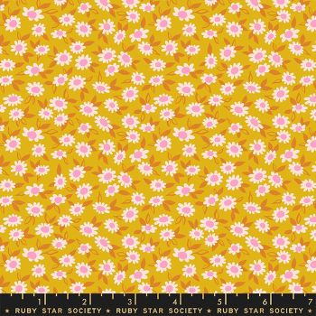 Stay Gold Morning Blend Goldenrod Daisy Flower  Ruby Star Society Melody Miller Cotton Fabric RS0023 12