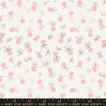 Stay Gold Blossom Cream Soda Metallic Copper Flower Botanical Ruby Star Society Melody Miller Cotton Fabric RS0024 11M