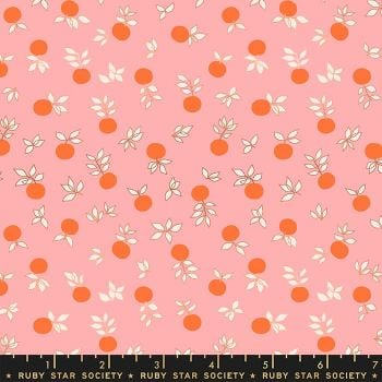 Stay Gold Blossom Merry Metallic Copper Flower Botanical Ruby Star Society Melody Miller Cotton Fabric RS0024 14M