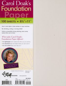 """Carol Doak's Foundation Paper - Printable Paper for Foundation Paper Piecing 8.5"""" x 11"""" - 100 Sheets"""