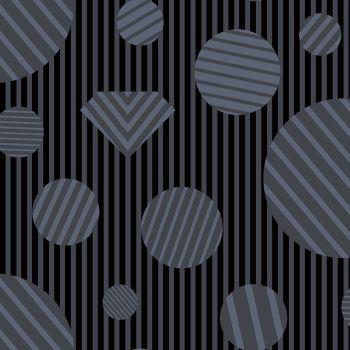 The Watcher Heartbreaker Coal Libs Elliott Geometric Stripes Spots Cotton Fabric 9836 K1