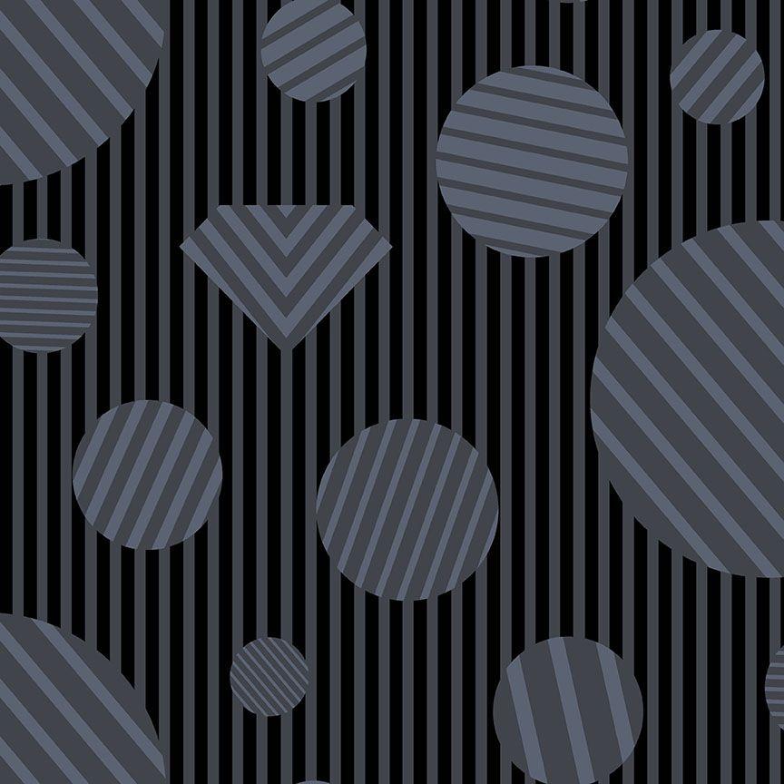 The Watcher Heartbreaker Coal Libs Elliott Geometric Stripes Spots Cotton F