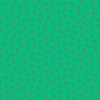 The Watcher Tainted Love Lime Libs Elliott Skulls Cotton Fabric 9837 G2