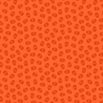 The Watcher Tainted Love Blood Orange Libs Elliott Skulls Cotton Fabric 9837 O