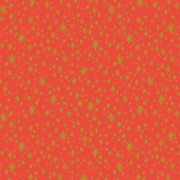 Rifle Paper Co. Holiday Classics Starry Night Red Metallic Gold Stars Cotton Fabric