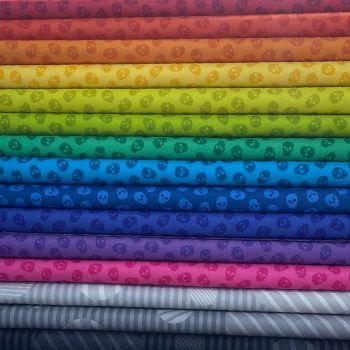 The Watcher Libs Elliott Rainbow 15 Fat Quarter Bundle Cotton Fabric Cloth Stack Full Collection