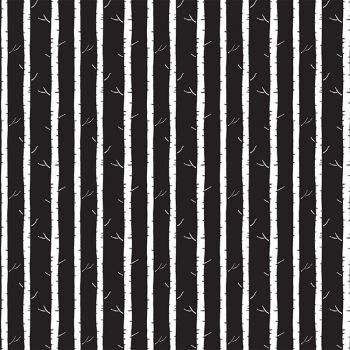 Those Who Wander Black Tree Trunks Forest Woodland Dear Stella Cotton Fabric
