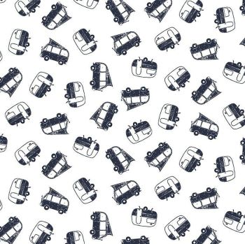 Chop It Like It's Hot Campers Campervan Camping Dear Stella Cotton Fabric