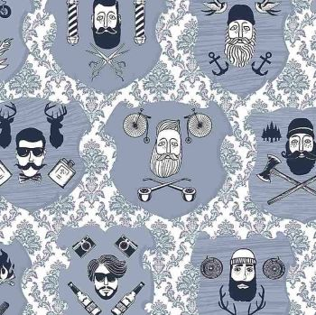 Chop It Like It's Hot Chop It Like It Is Hot Beards and Mustaches Hipster Dear Stella Cotton Fabric