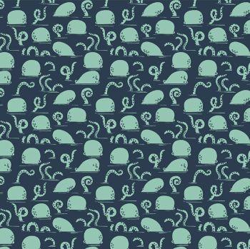Bootylicious - Ahoy Mate! Octoward Octopus Dear Stella Cotton Fabric