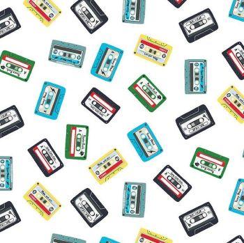 Pour Some Sugar on Me Cassette Tape Mix Music Mixtape Dear Stella Cotton Fabric