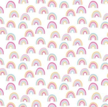 What's The Scoop? Rainbows Scattered Rainbow Dear Stella Cotton Fabric