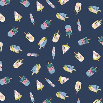 What's The Scoop? Ice Lollies Tiny Popsicle Ice Lolly Icecreams Dear Stella Cotton Fabric