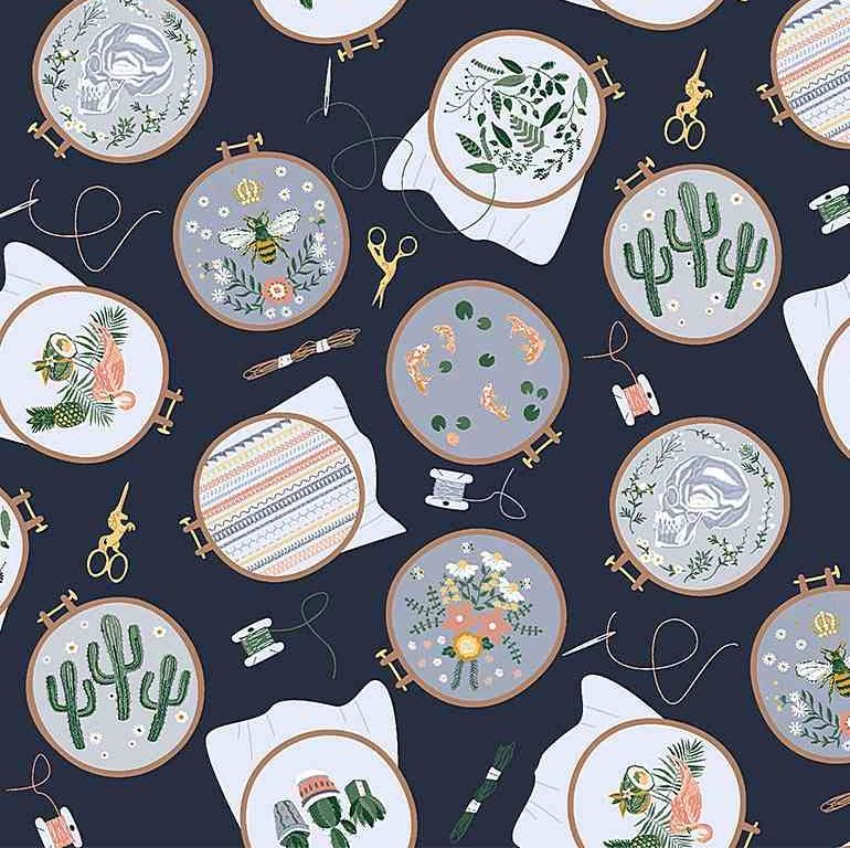 Sew On & Sew Forth Embroidery Hoops Floral Cactus Bee Needle Thread Dear St