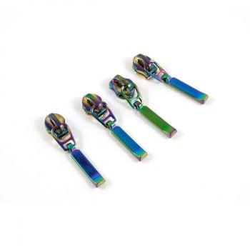 Emmaline Bags Rainbow Hardware - #3 Zipper Slider with Rectangle Dangle Pull 10 Pack