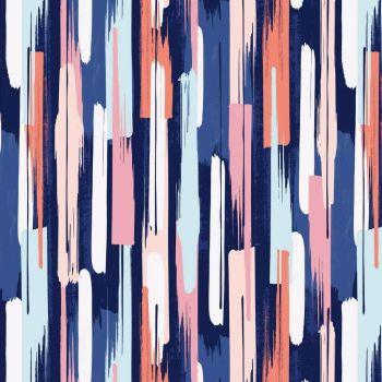Celeste Brush Strokes Multi Paint Stripes Dashwood Cotton Fabric