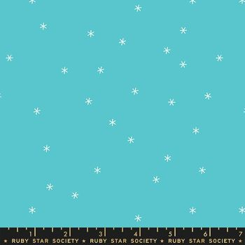 Spark Turquoise Star Ruby Star Society Melody Miller Cotton Fabric