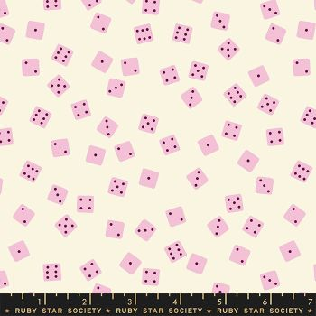 Tarrytown Orchid Dice Board Games Kimberly Kight Ruby Star Society Cotton Fabric