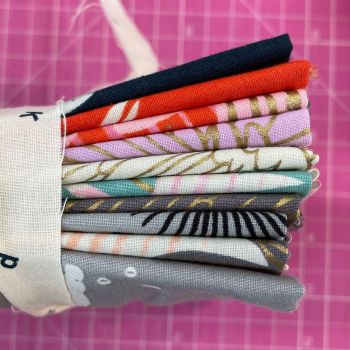 Ruby Tuesday DESTASH Florida Fat Quarter Bundle Stash Starter Ruby Star Society Bundle Cotton Fabric Stash Stack (Anagram Tie)