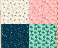 """Ruby Star Society Peppermint Please Wrap Multi Panel 36"""" Christmas Festive Wrapping Paper Cotton Fabric"""