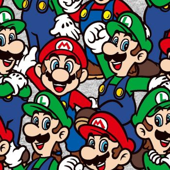 Nintendo Super Mario Packed Character Luigi Game Gamers Video Game Cotton Fabric