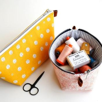 Aneela Hoey Zippered Basket Pouch Pattern