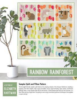 Elizabeth Hartman Rainbow Rainforest Quilt Pattern
