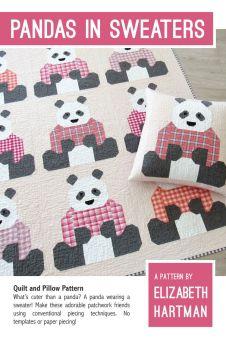 Elizabeth Hartman Pandas in Sweaters Quilt Pattern