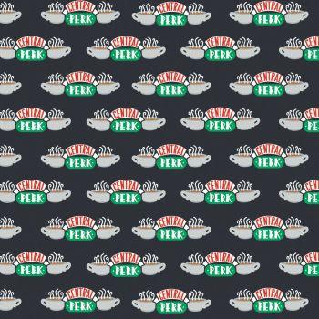 Friends 25th Anniversary Central Perk Logo NYC TV Show Classic Television Cotton Fabric per half metre