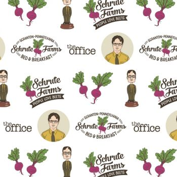The Office An American Workplace Dwight Schrute Beet Farm TV Show Classic Television Cotton Fabric per half metre