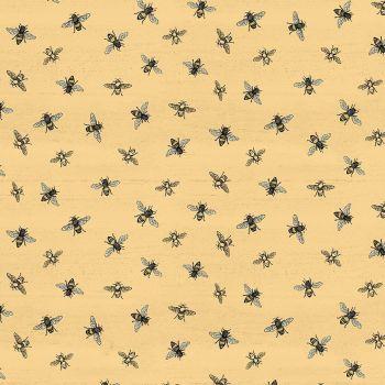 Bee's Life Honey Bumblebee Honey Bee Cotton Fabric