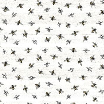 Bee's Life Parchment Bee Bumblebee Honey Bee Cotton Fabric