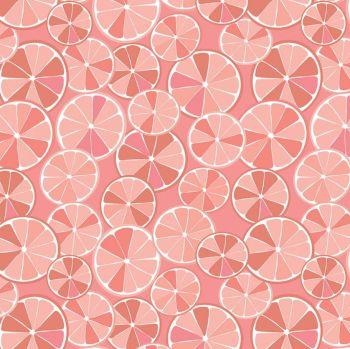 Grove Slices Grapefruit Citrus Fruit Cotton Fabric