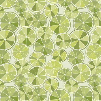 Grove Slices Lime Limeade Citrus Fruit Cotton Fabric
