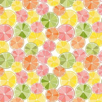 Grove Slices Multi Lime Lemon Orange Grapefruit Citrus Fruit Cotton Fabric