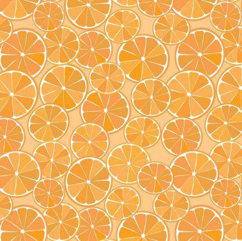 Grove Slices Orange Citrus Fruit Cotton Fabric