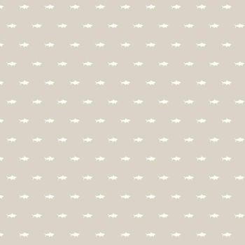 Riptide Shadows Taupe Tiny Sharks Shark Silhouette by Citrus and Mint Cotton Fabric