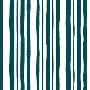 Pink Lemonade Stripe Teal Geometric Stripes Cotton Fabric