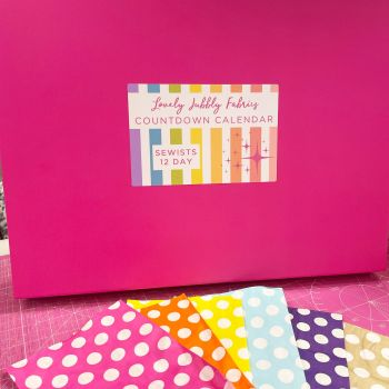 PRE-ORDER Lovely Jubbly Fabric Sewists Countdown Calendar #1 - 12 Day Vol. 1