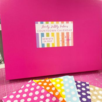 PRE-ORDER Lovely Jubbly Fabric Sewists Countdown Calendar #1 - 24 Day