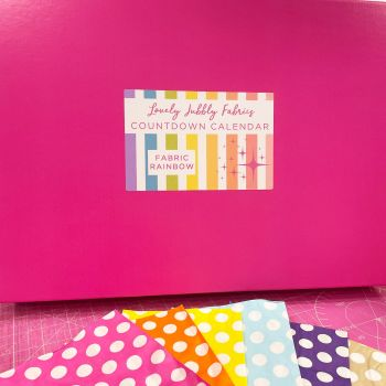PRE-ORDER Lovely Jubbly Fabric Rainbow Countdown Calendar - 24 x Fat Eighth or Fat Quarter