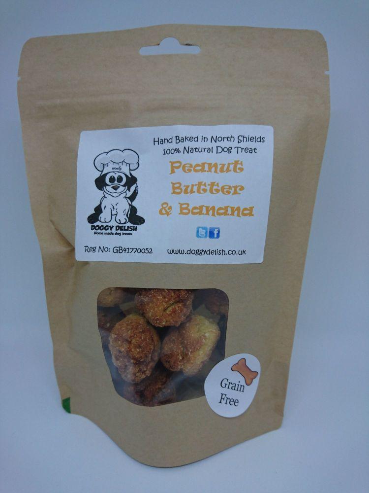200g Treat Bag Grain Free Banana & Peanut Butter