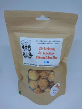 200g Treat Bag Chicken & Liver Meatballs