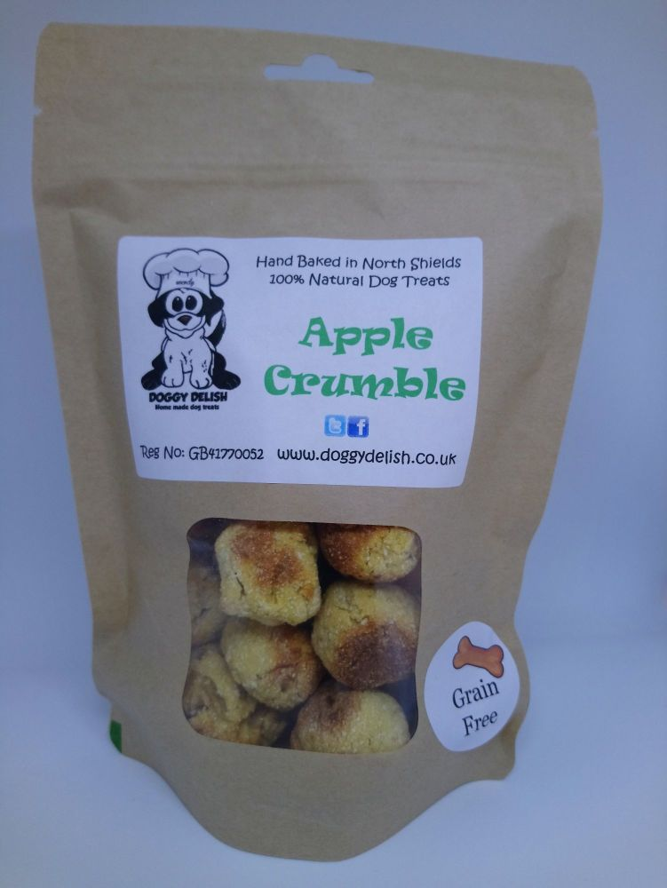 200g Treat Bag Grain Free Apple Crumble