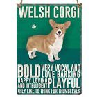 Enamel hanging sign 9cm x 6.5cm (Welsh Corgi)